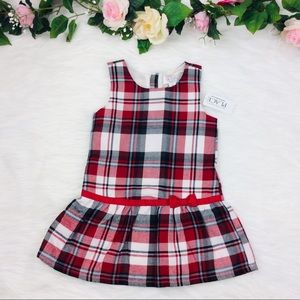 The Children's Place Red Plaid Holiday Dress 2T
